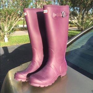 Hunter Rain Boots : Purple